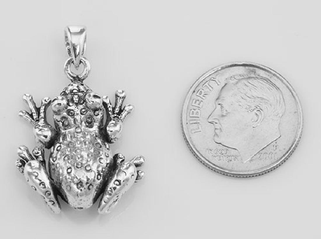 Frog Moveable Legs Charm Pendant - Movable - Sterling S - 3
