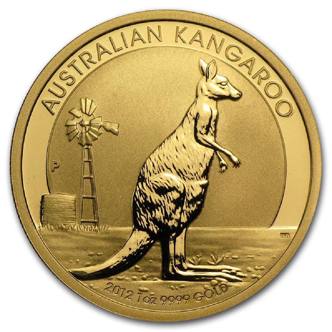 2012 Australia 1 oz Gold Kangaroo BU