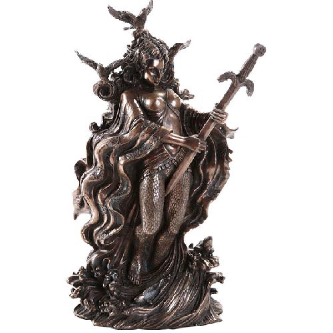 """COLD CAST BRONZE LADY OF LAKE 5 1/4"""" x 4 1/4"""" x 9 1/2"""""""