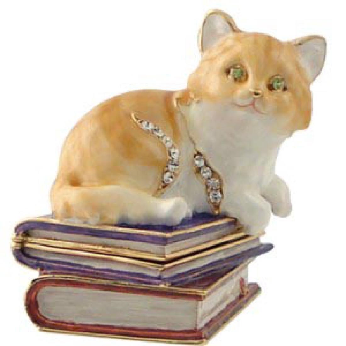 Kitten Jewelry Box With Austrian Crystals 2 1 X