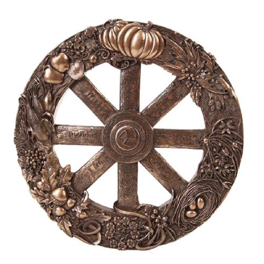 COLD CAST BRONZE WHEEL OF THE YEAR PLAQUE