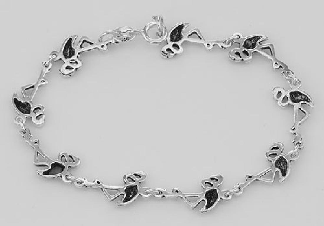 Beautiful Flamingo Link Bracelet - Sterling Silver - 2