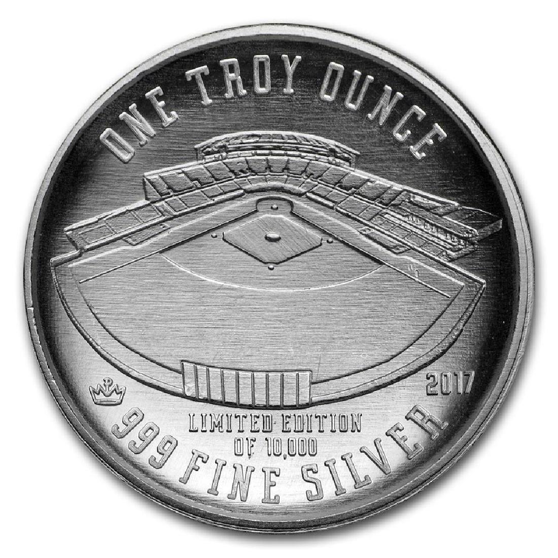 1 oz Silver Round - 2017 Domed Baseball