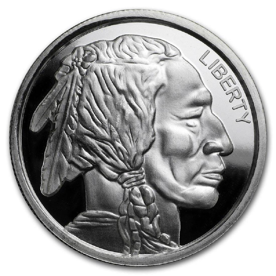 1 oz Silver Ultra High Relief Round - Buffalo