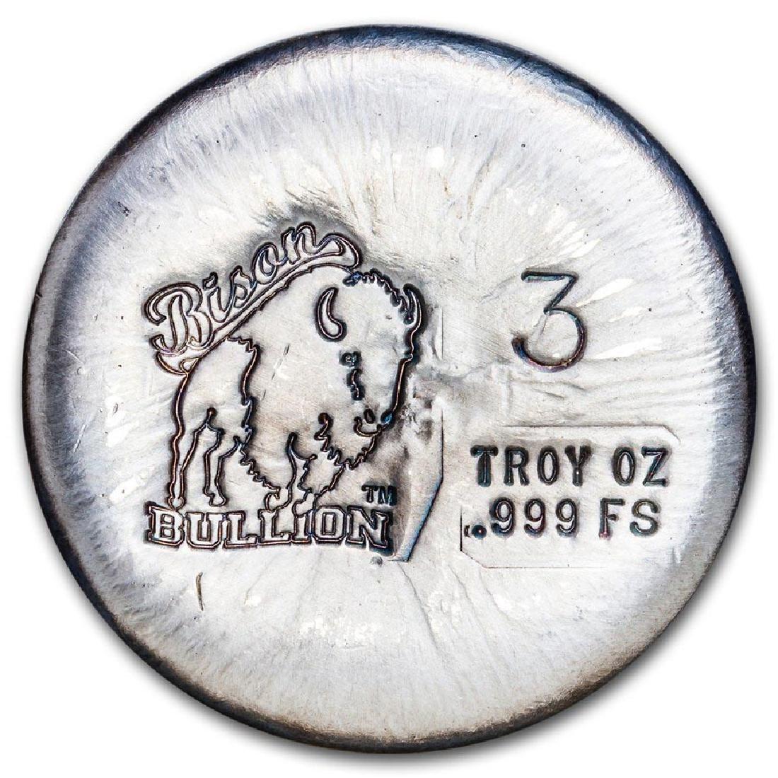 3 oz Silver Round - Bison Bullion