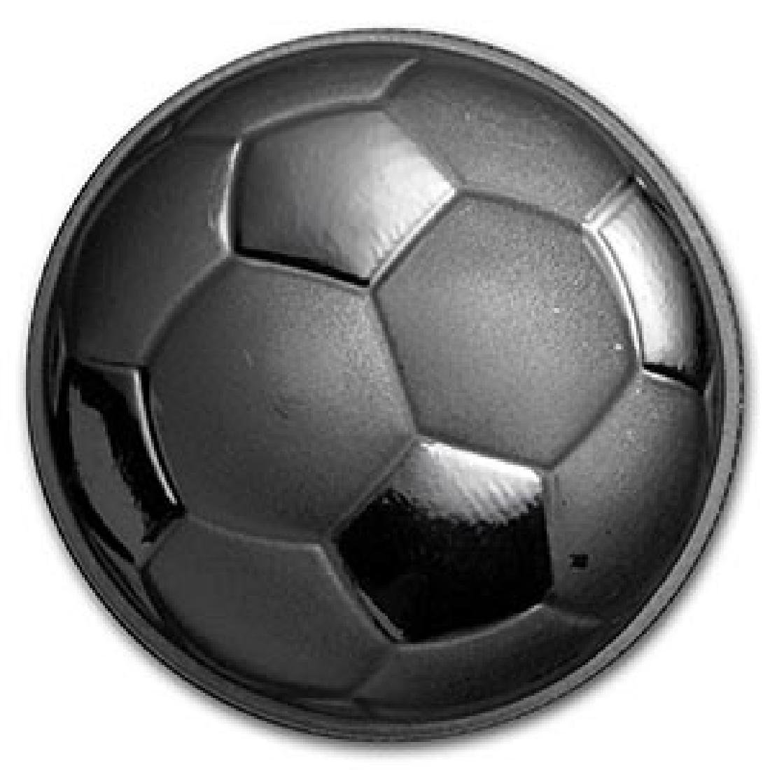 1 oz Silver Round - Domed Soccer Ball