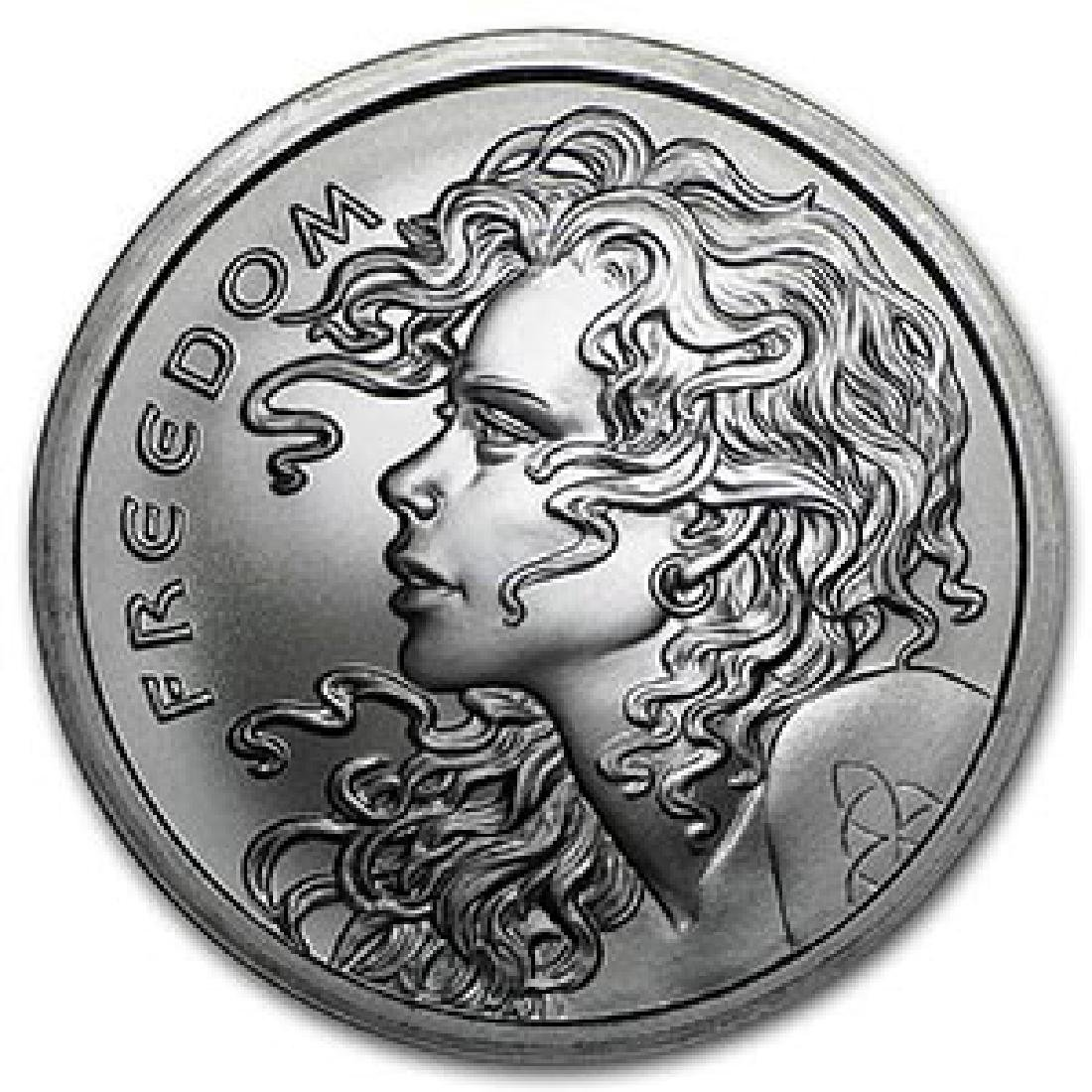 2016 2 oz Silver Shield Round - Freedom Girl
