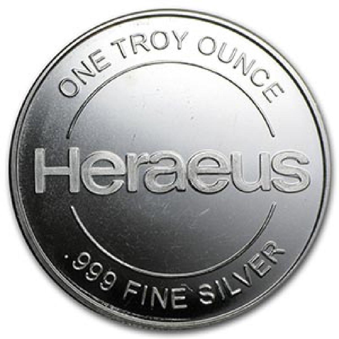 1 oz Silver Round - Heraeus