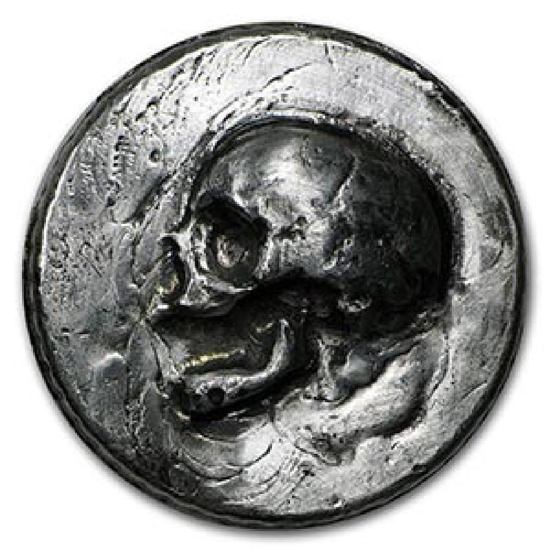 3 oz Silver Round - MK Barz & Bullion (Skull, Ultra Hig
