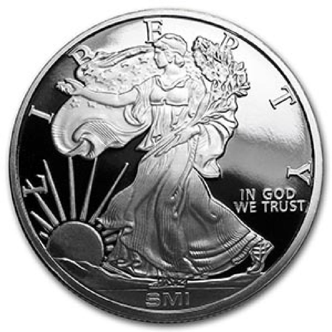 1 oz Silver Round - Walking Liberty (MintMark SI)