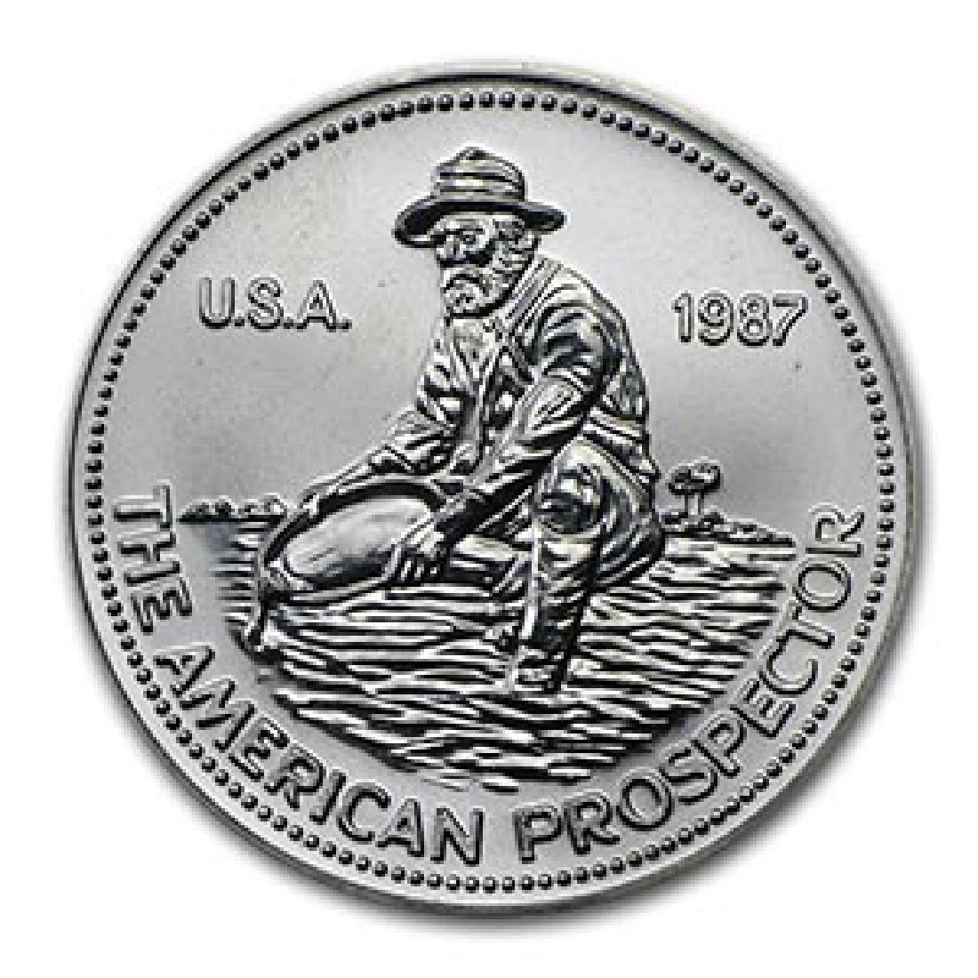 1 oz Silver Round - Engelhard Prospector (1987, Eagle R
