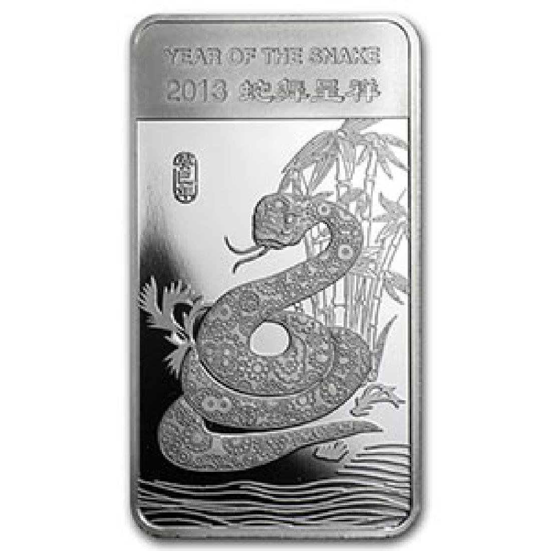 1/2 oz Silver Bar - (2013 Year of the Snake)