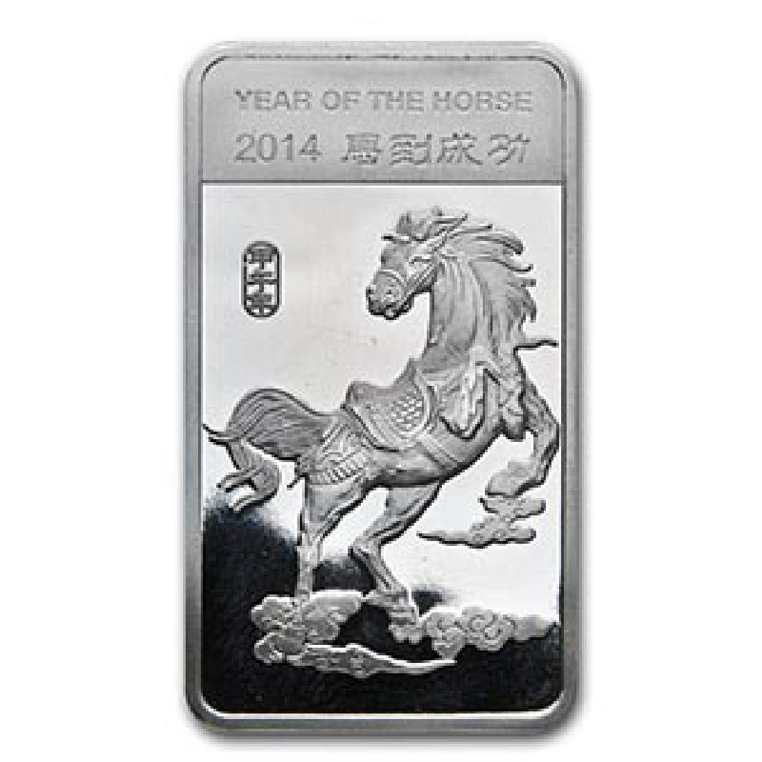 1/2 oz Silver Bar - (2014 Year of the Horse)