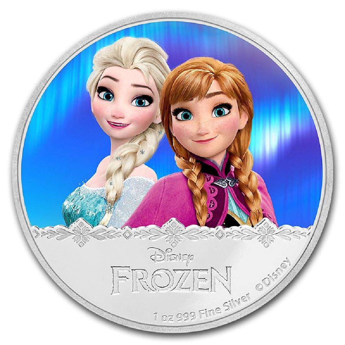 2016 Niue 1 oz Silver $2 Disney Frozen: Elsa & Anna