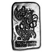 5 oz Silver Bar - Monarch Viking Warrior (Battle Axe)