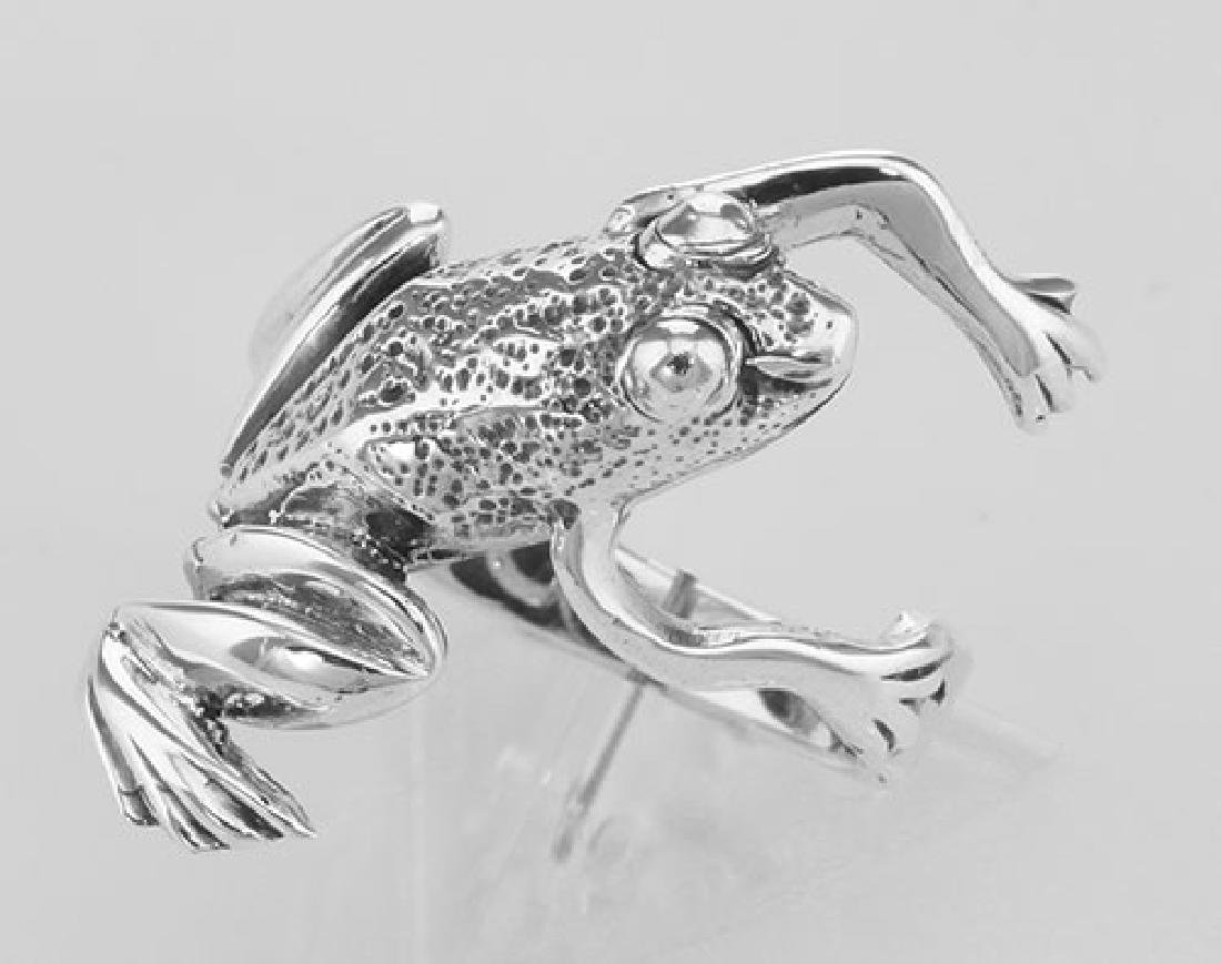 Fun Frog Ring - Hugger Style - Sterling Silver - 2