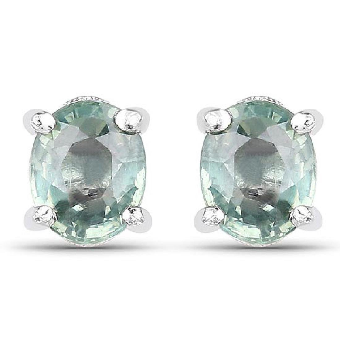 0.62 Carat Genuine Green Sapphire .925 Sterling Silver