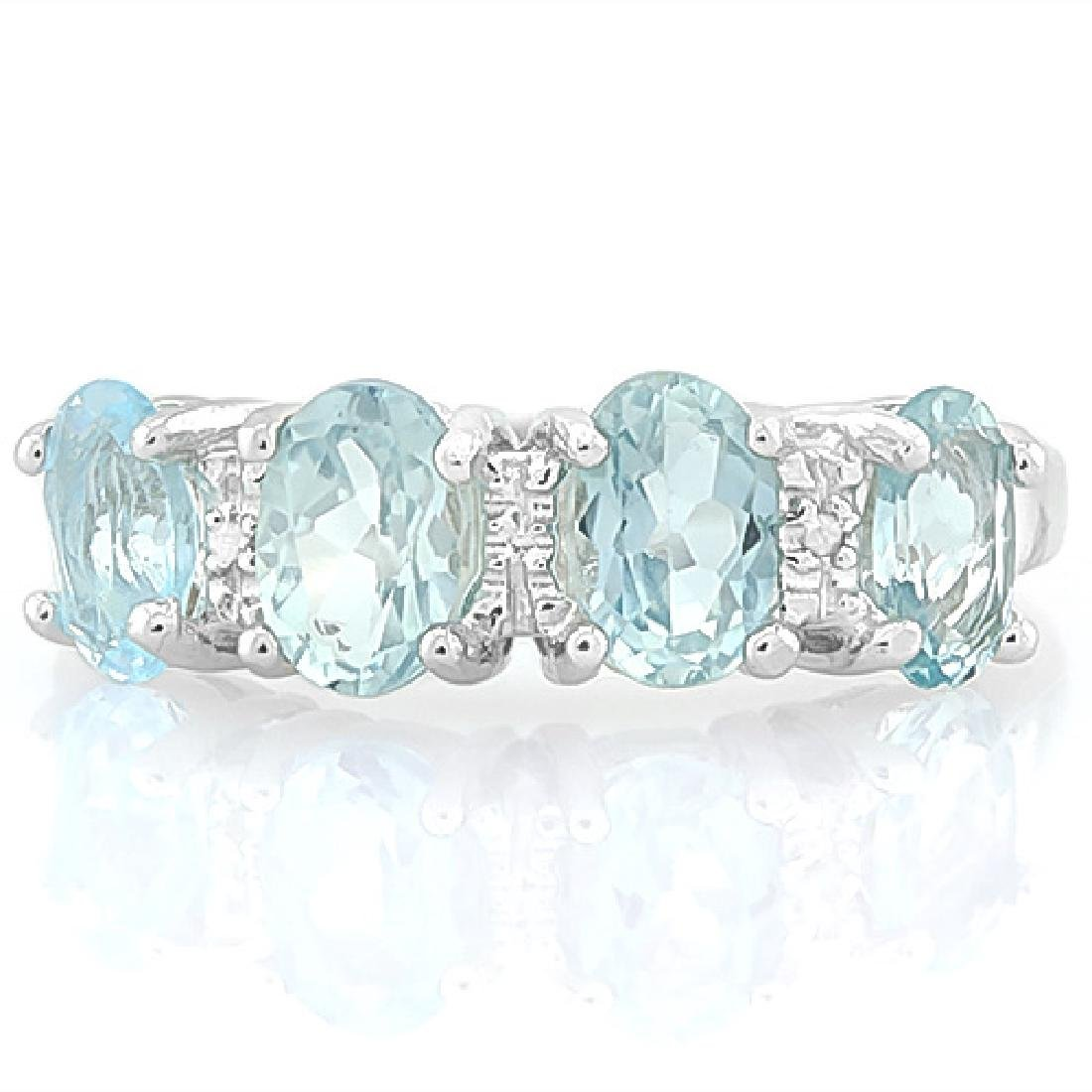 9 1/5 CARAT BABY SWISS BLUE TOPAZ & DIAMOND 925 STERLIN