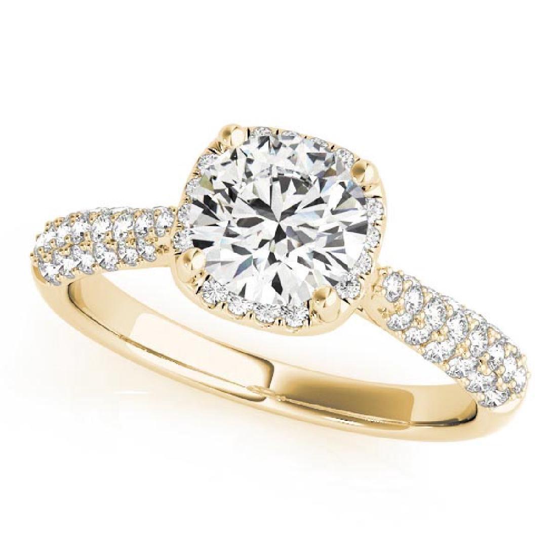 CERTIFIED 18K YELLOW GOLD 1.15 CT G-H/VS-SI1 DIAMOND HA