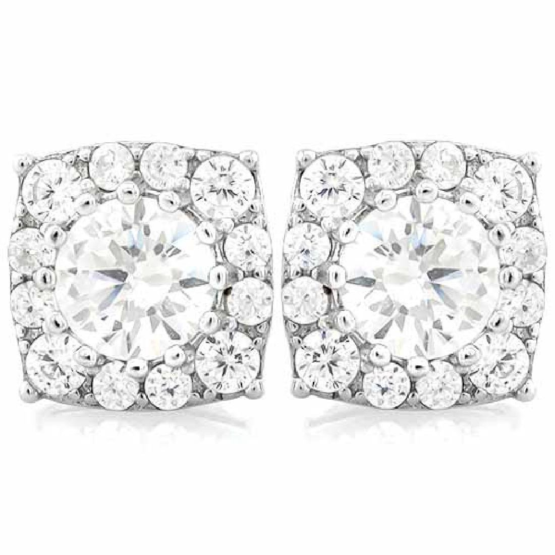 2 2/3 CARAT (28 PCS) FLAWLESS CREATED DIAMOND 925 STERL