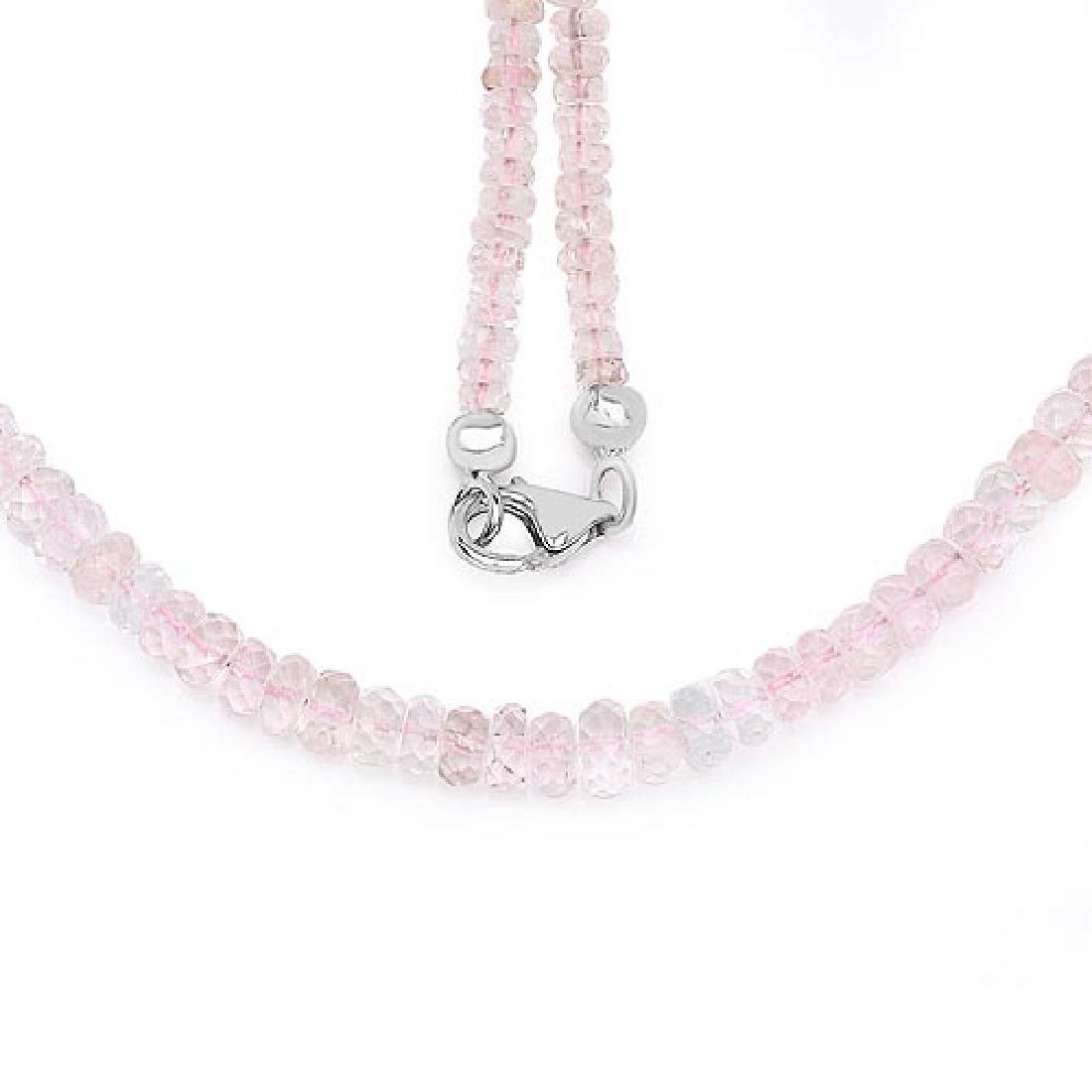 60.00 Carat Genuine Morganite .925 Sterling Silver Neck