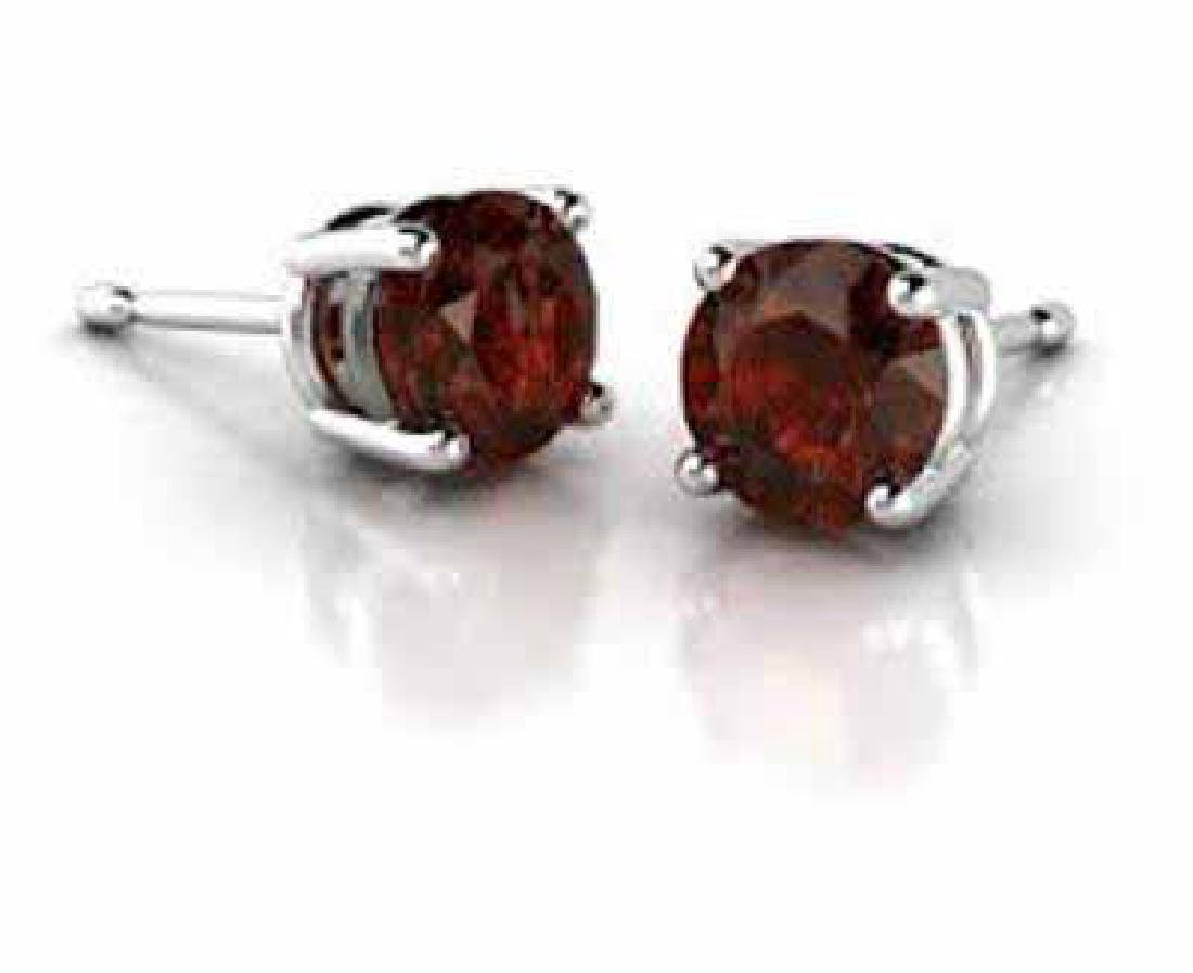 1.20 CT GARNET PLATINUM OVER 0.925 STERLING SILVER EARR