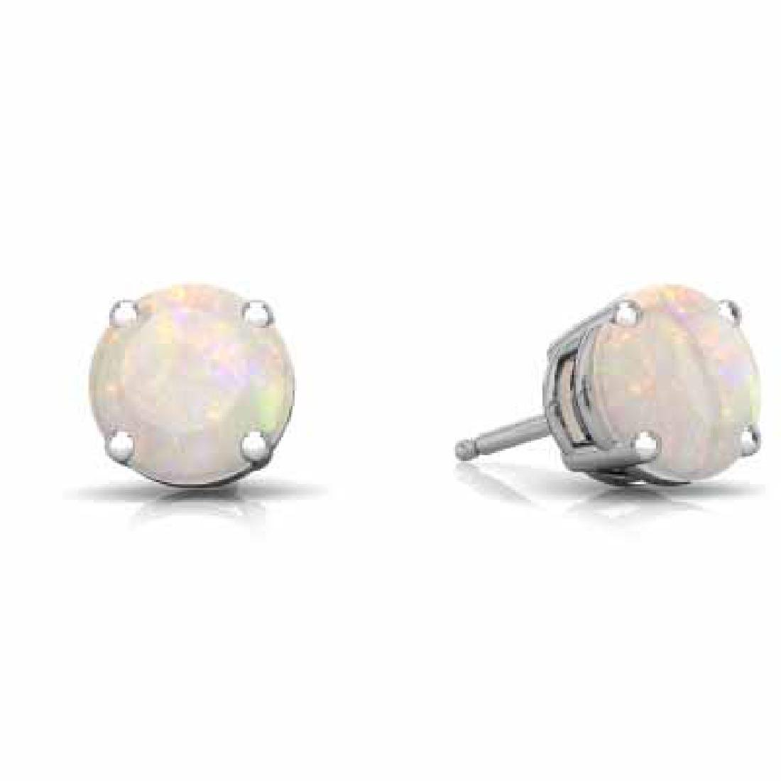 2 CARAT CREATED FIRE OPAL 925 STERLING SILVER EARRINGS
