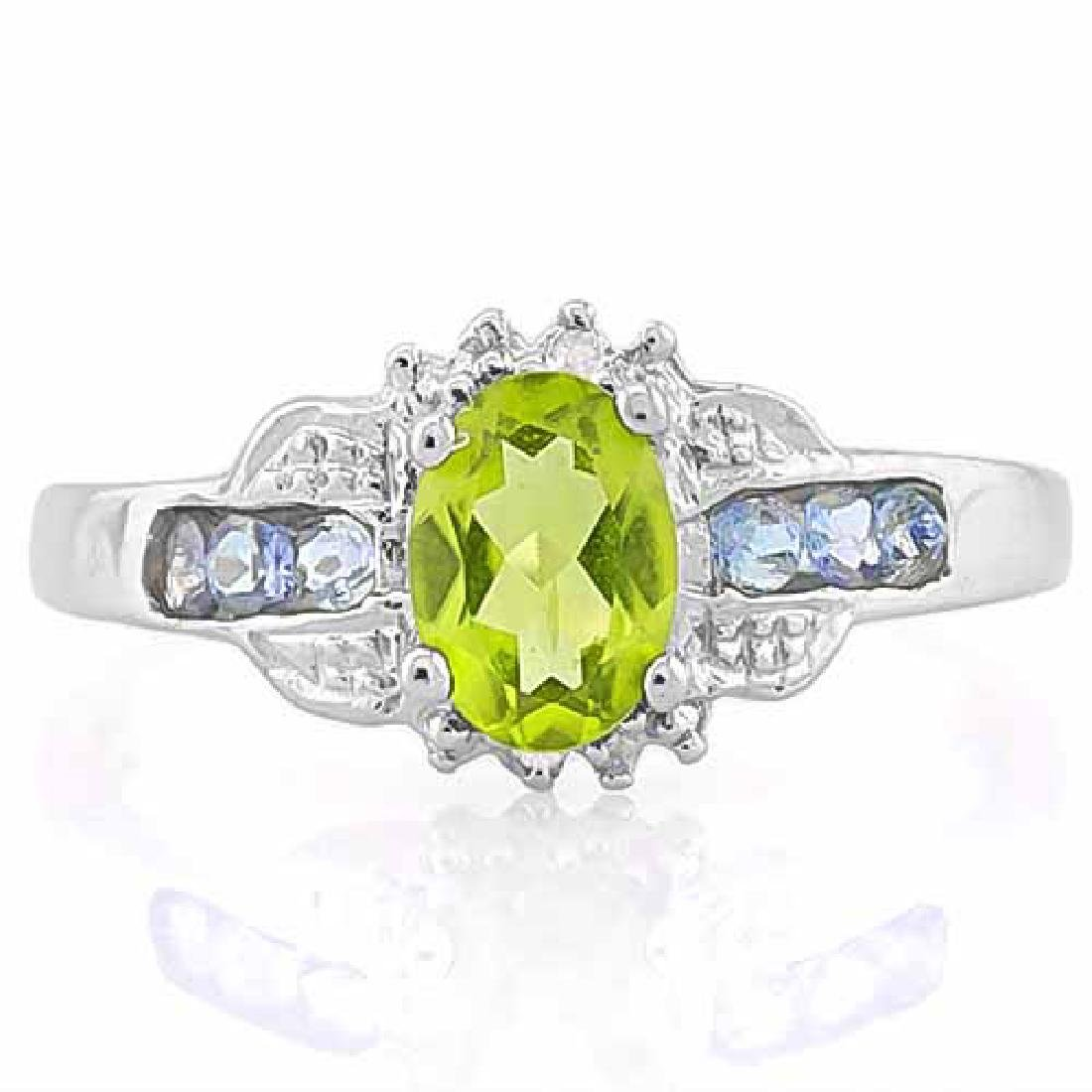 PERIDOT & 1 1/3 CARAT (6 PCS) TANZANITE 925 STERLING SI