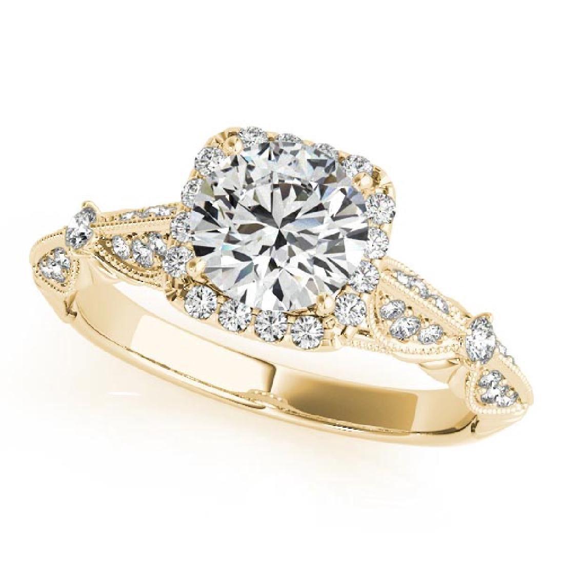 CERTIFIED 18K YELLOW GOLD 1.31 CT G-H/VS-SI1 DIAMOND HA