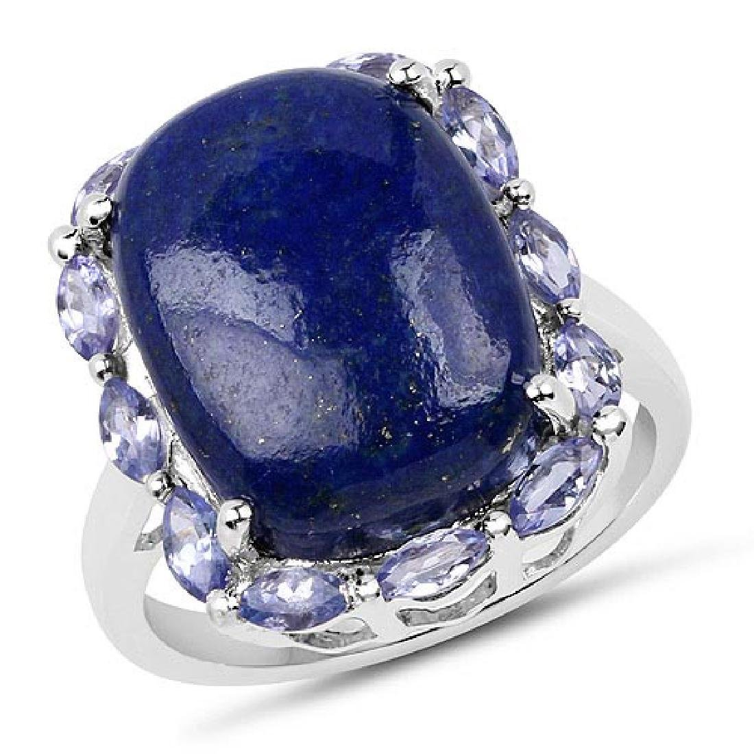 10.56 Carat Genuine Lapis and Tanzanite .925 Sterling S