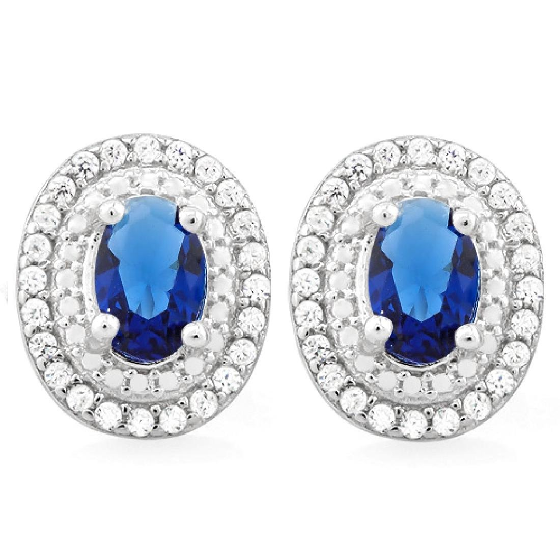 2 CARAT CREATED BLUE SAPPHIRE & 3/5 CARAT (60 PCS) FLAW