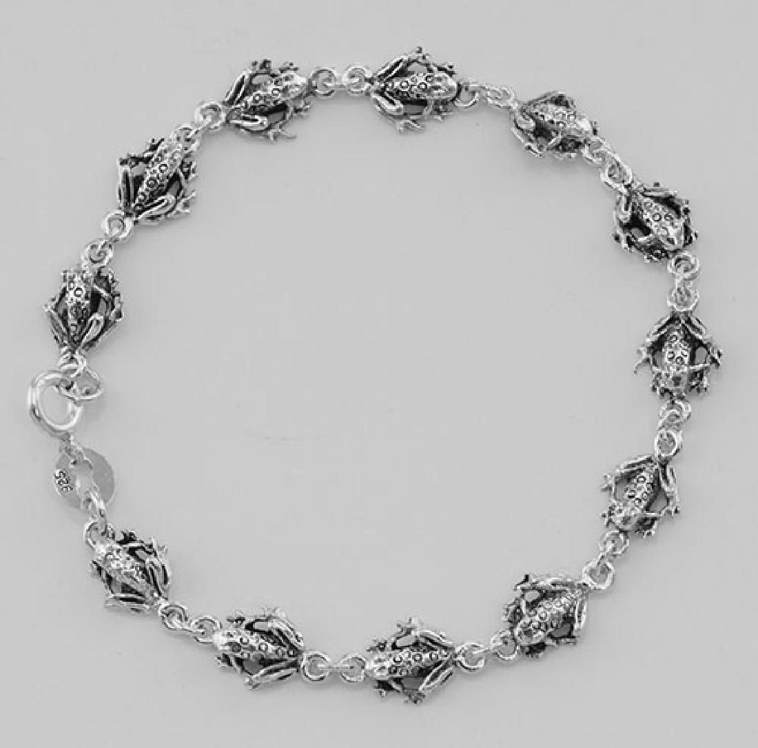 Frog Bracelet - Sterling Silver