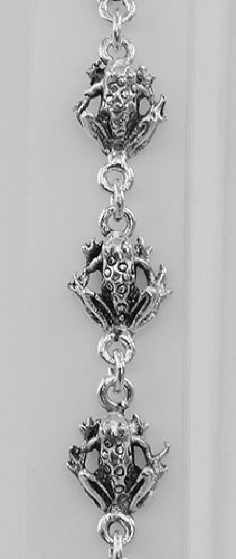 Frog Bracelet - Sterling Silver - 3