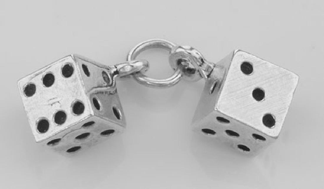 Lucky Dice Charm or Pendant - Sterling Silver