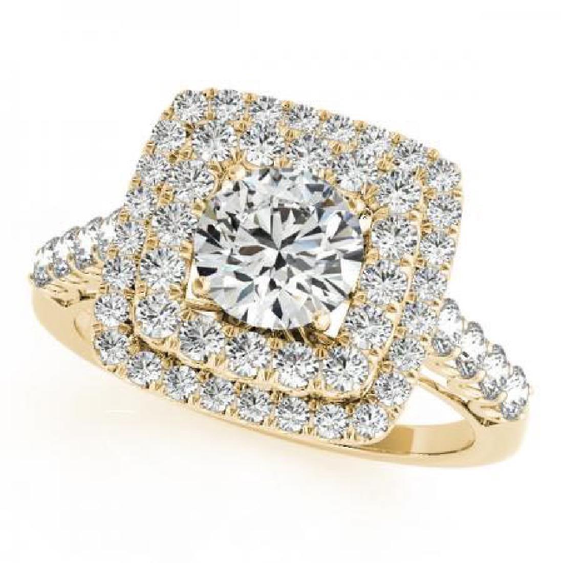 CERTIFIED 18K YELLOW GOLD 2.14 CT G-H/VS-SI1 DIAMOND HA