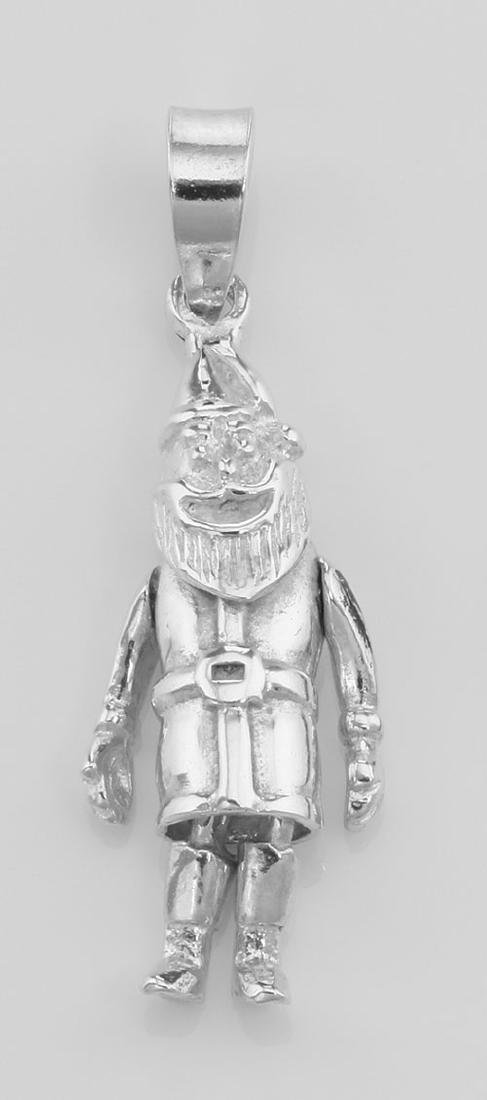 Moveable Santa Claus Pendant Charm - Movable - Sterling