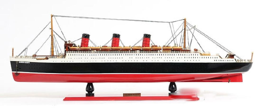 HAND MADE WOODEN Queen Mary W/COA