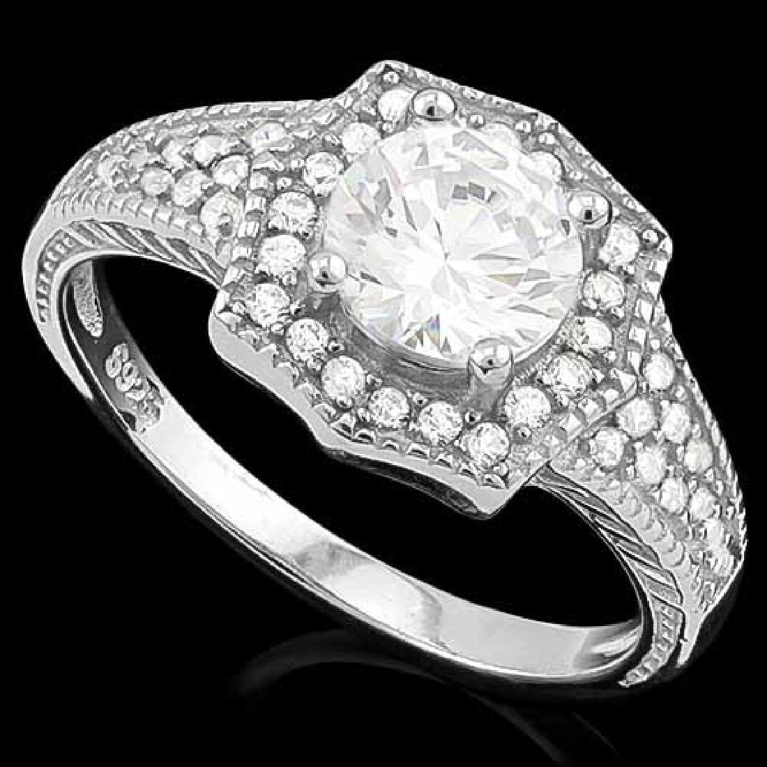 1 3/5 CARAT (41 PCS) FLAWLESS CREATED DIAMOND 925 STERL