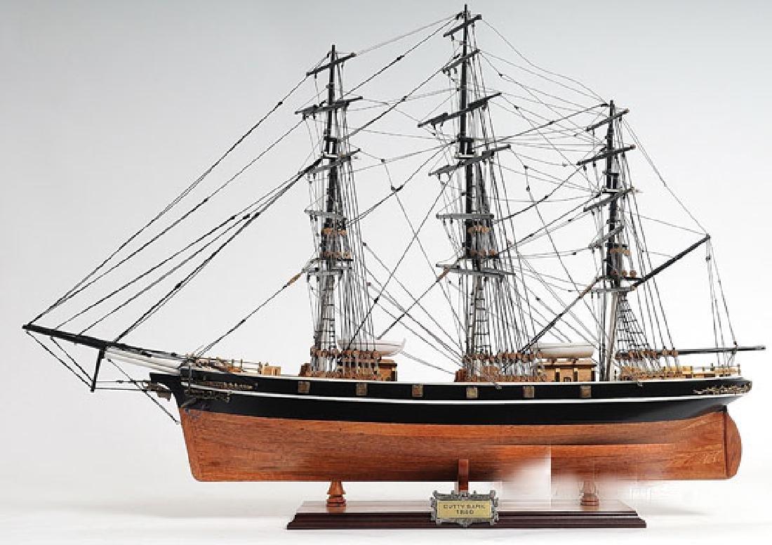 HAND MADE WOODEN Cutty Sark (no sail) W/COA