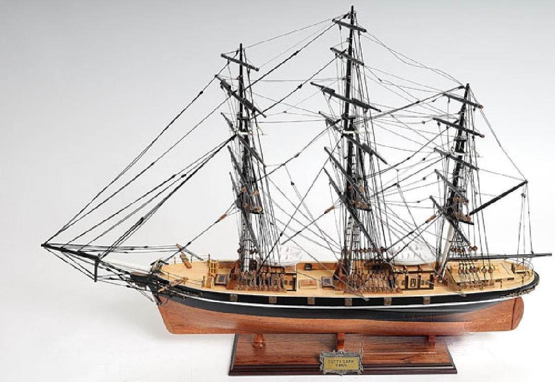 HAND MADE WOODEN Cutty Sark (no sail) W/COA - 2