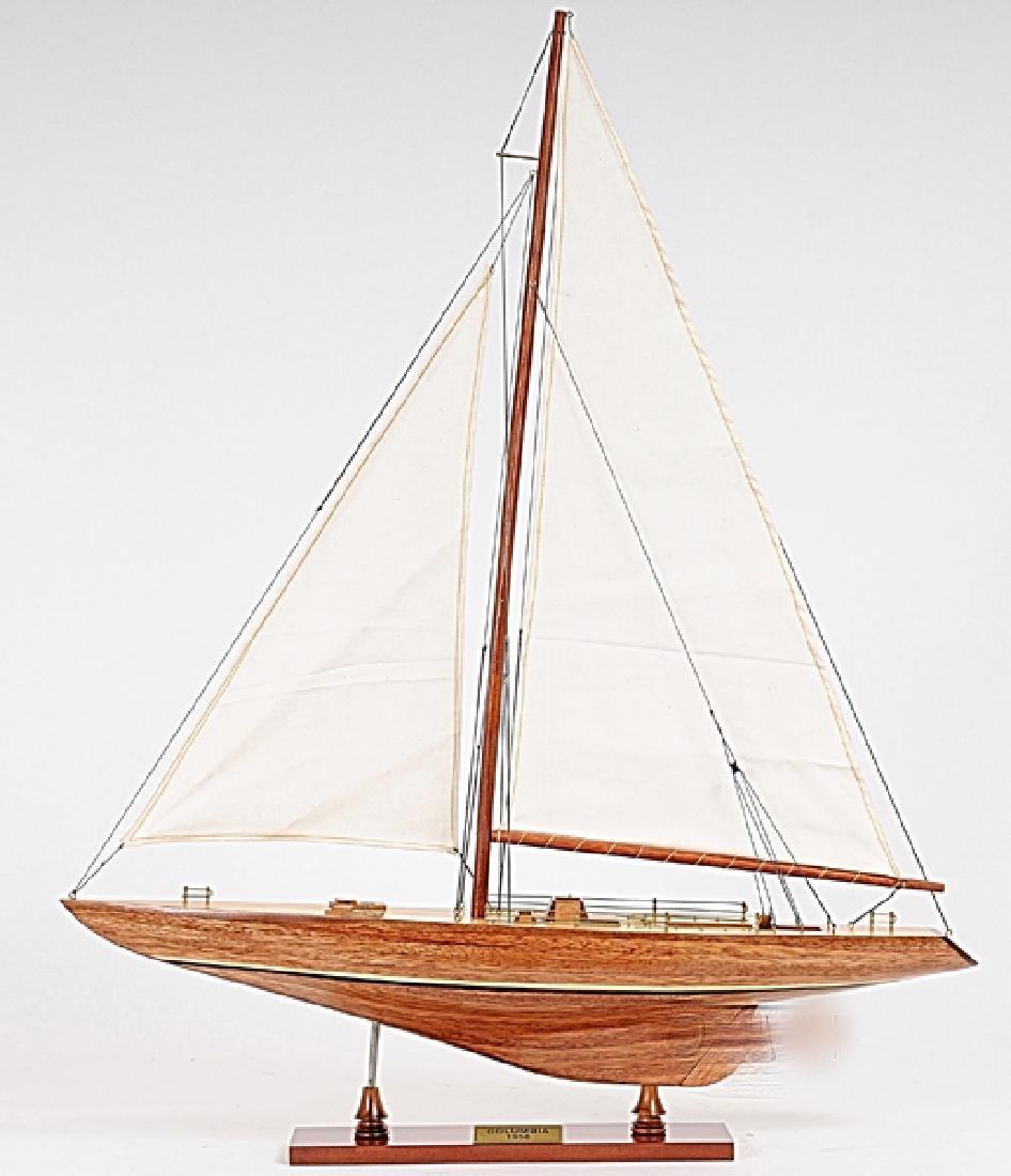 HAND MADE WOODEN Columbia Ship W/COA