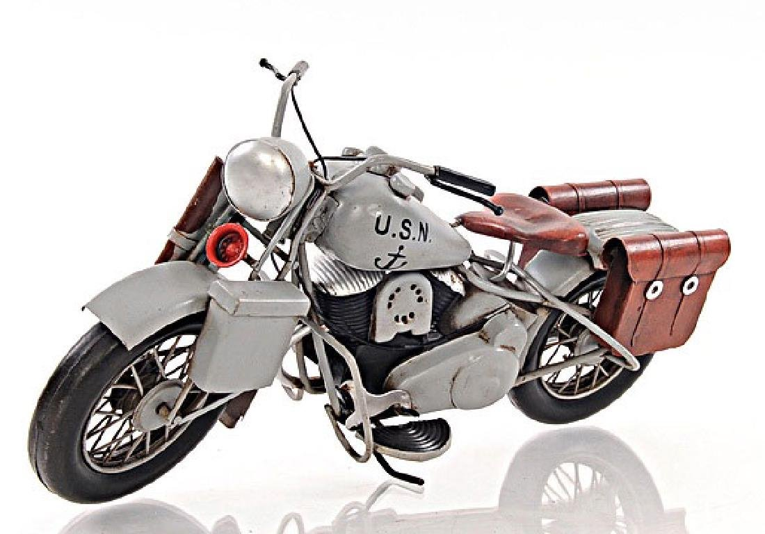 HAND MADE 1945 GREY MOTERCYCLE 1:12TH SCALE MODEL REPLI