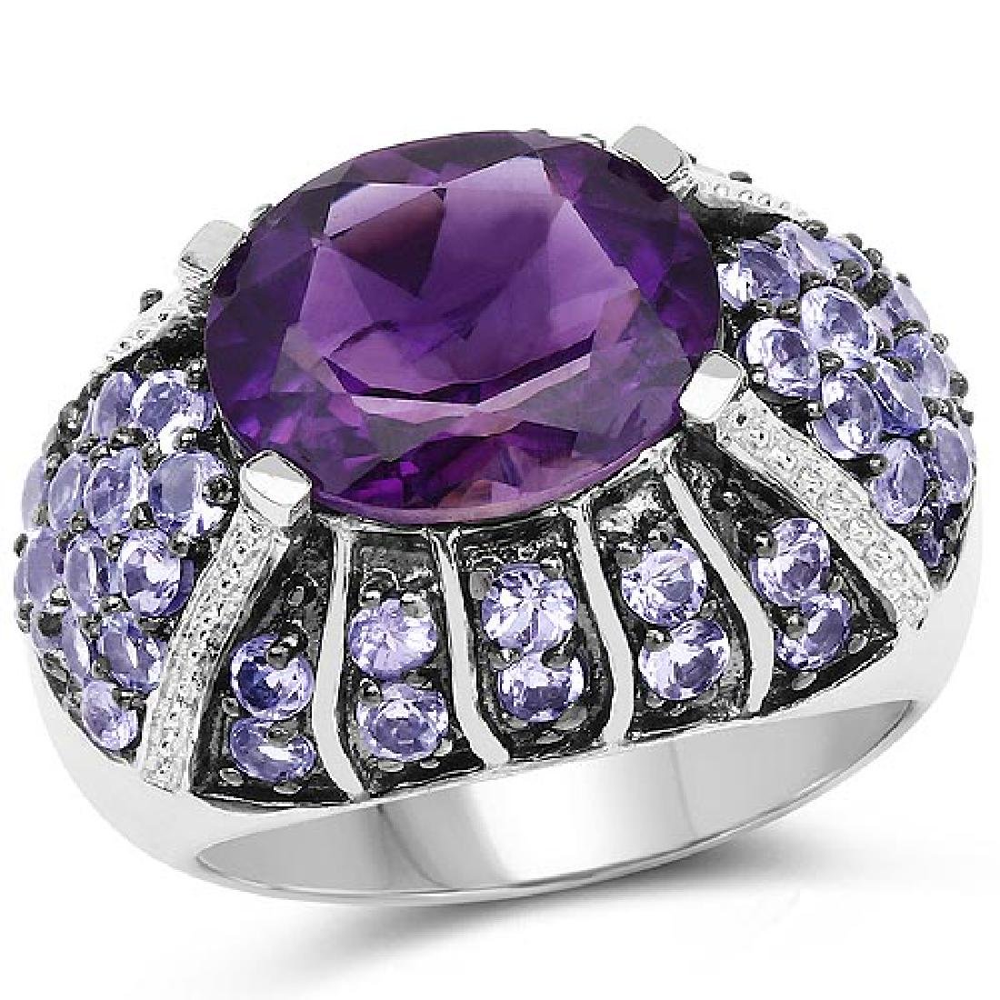 5.50 Carat Genuine Amethyst and Tanzanite .925 Sterling