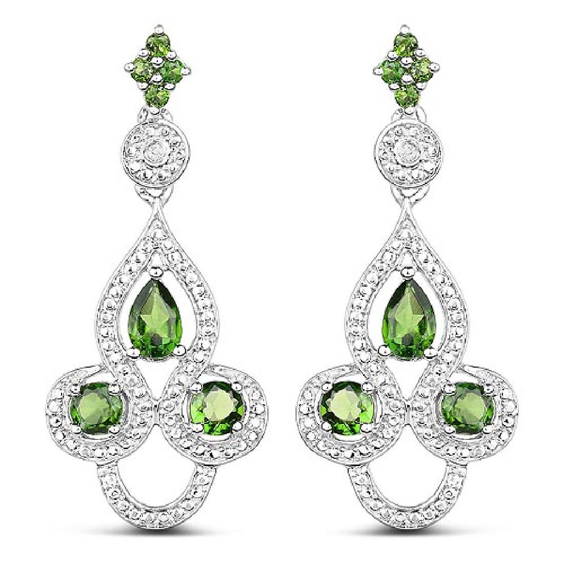 2.28 Carat Genuine Chrome Diopside and White Topaz .925