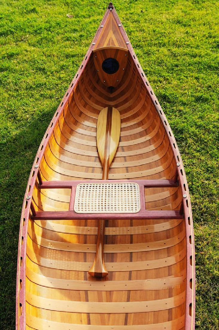 HAND MADE WOODEN Canoe With Ribs Curved bow 10feet W/CO