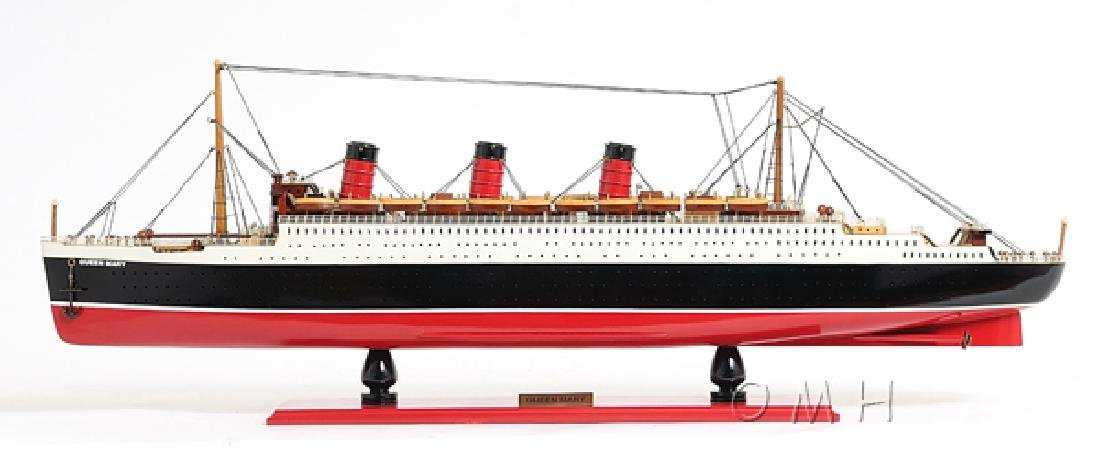 HAND MADE WOODEN Queen Mary L W/COA