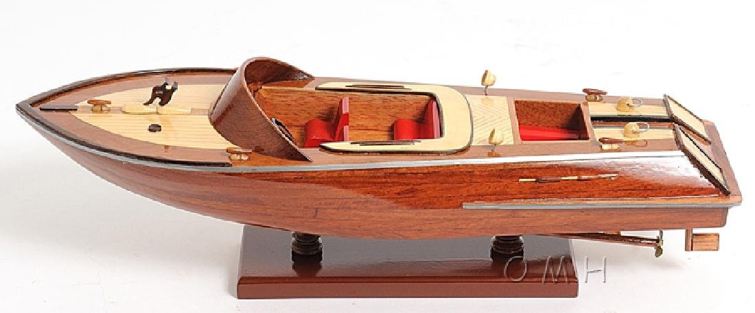 HAND MADE WOODEN Runabout Sm W/COA