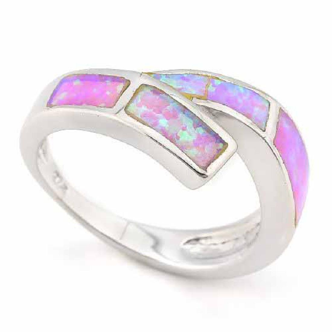 1 1/2 CARAT CREATED FIRE OPAL 925 STERLING SILVER RING