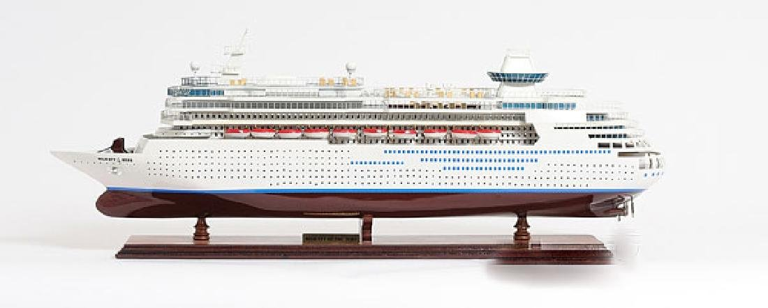HAND MADE WOODEN Majesty of the Seas W/COA