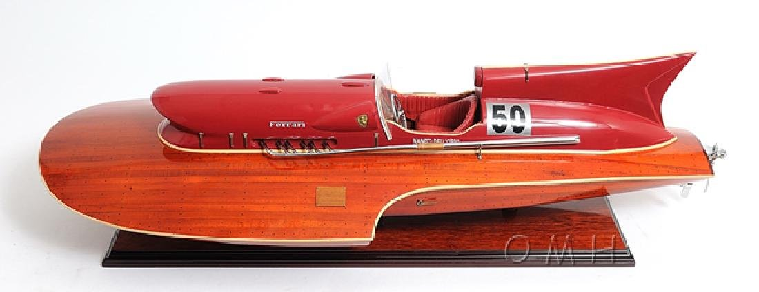 HAND MADE WOODEN Ferrari Hydroplane W/COA